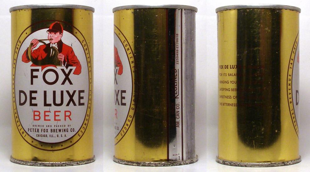 Fox Deluxe Beer Flat Top Beer Can