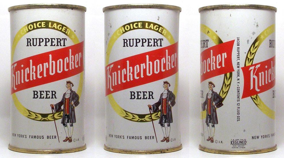 Knickerbocker Beer Flat Top Beer Can