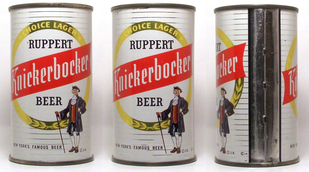 Knickerbocker Beer Flat Top Beer Can