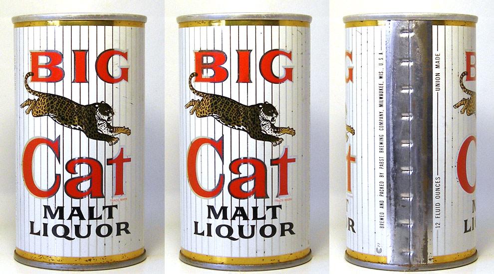 Big Cat Malt Liquor Tab Top Beer Can