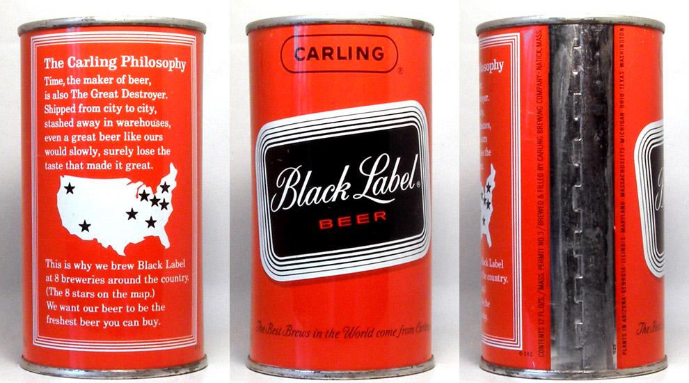 Black Label Beer Tab Top Beer Can
