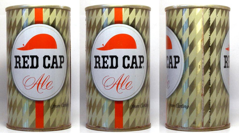 Red Cap Ale Tab Top Beer Can