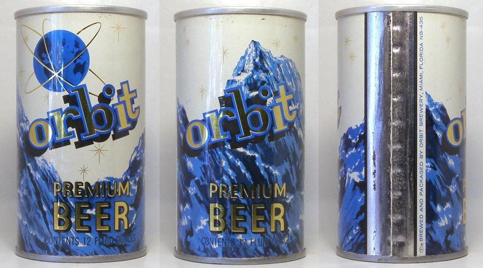 Orbit Beer Tab Top Beer Can