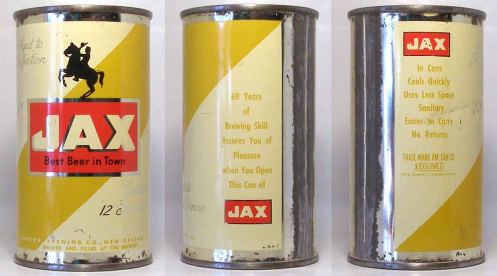 Jax Beer Flat Top Beer Can