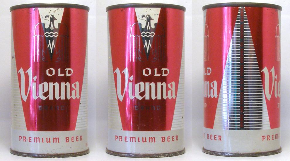Old Vienna Beer Flat Top Beer Can
