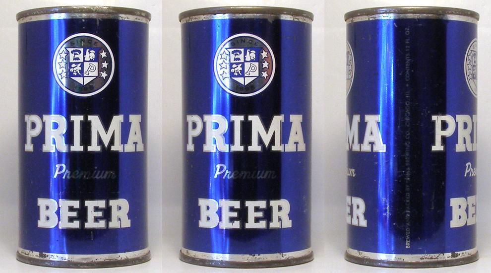 Prima Beer Flat Top Beer Can
