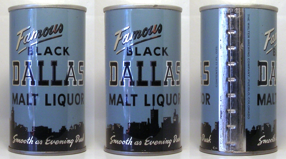 Black Dallas Malt Liquor Tab Top Beer Can