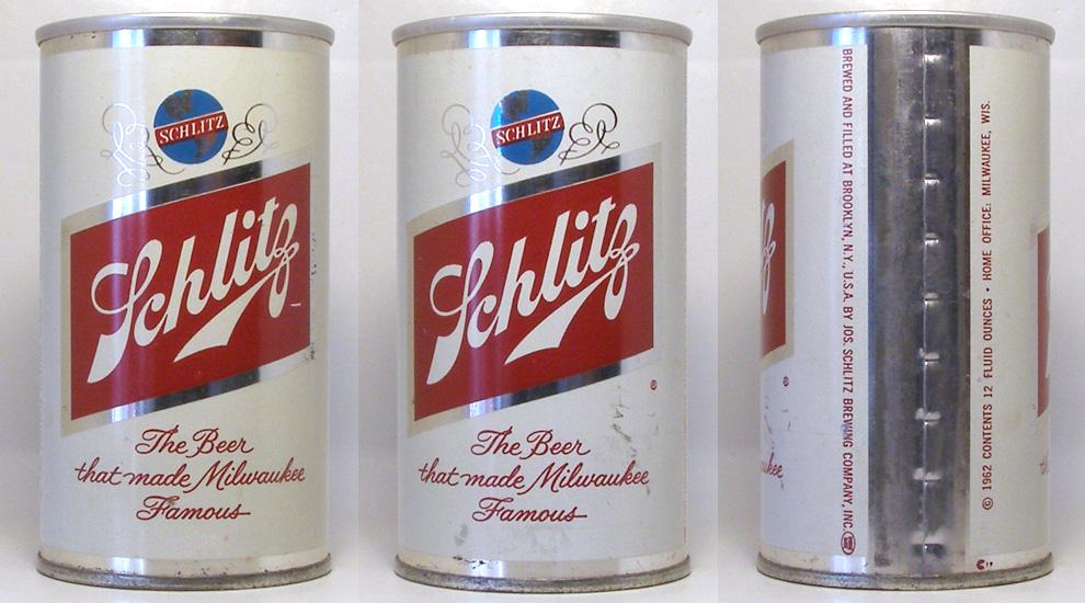 Schlitz Beer Tab Top Beer Can