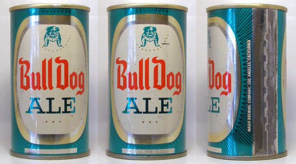 Bull Dog Ale Tab Top Beer Can