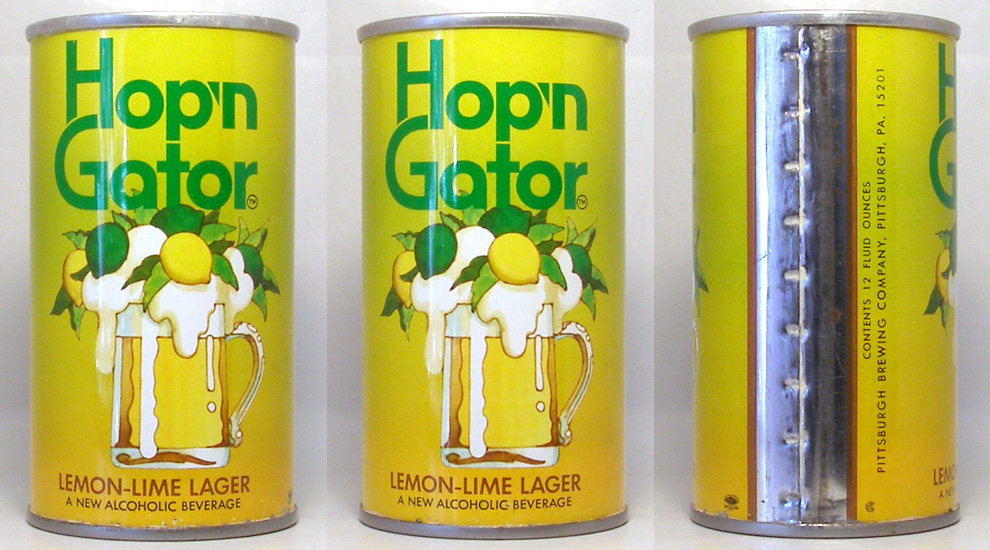 Hop n Gator Beer Tab Top Beer Can