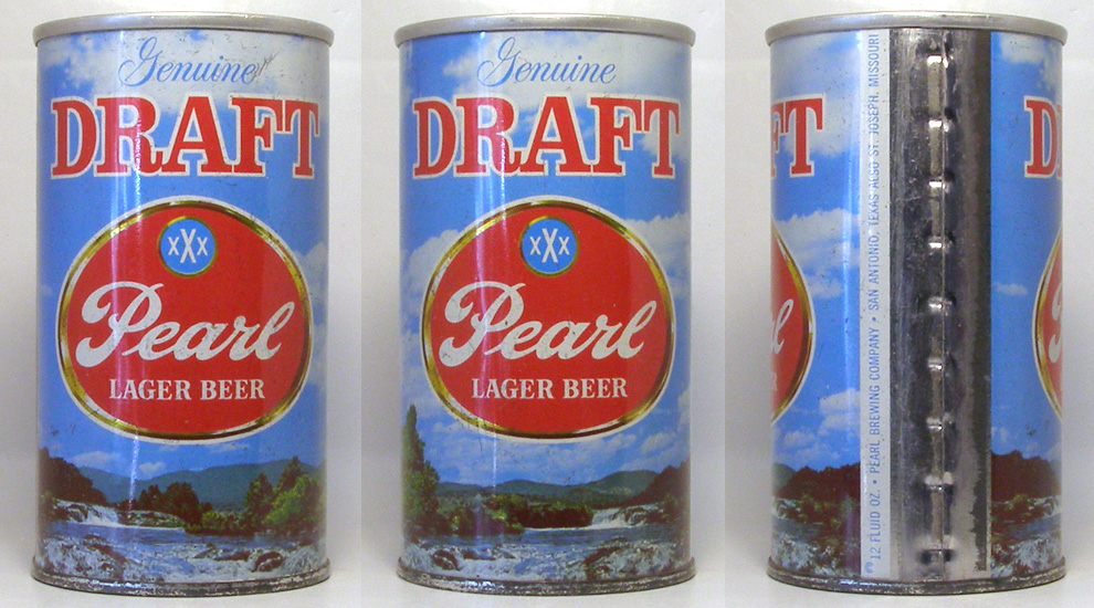 Pearl Draft Tab Top Beer Can