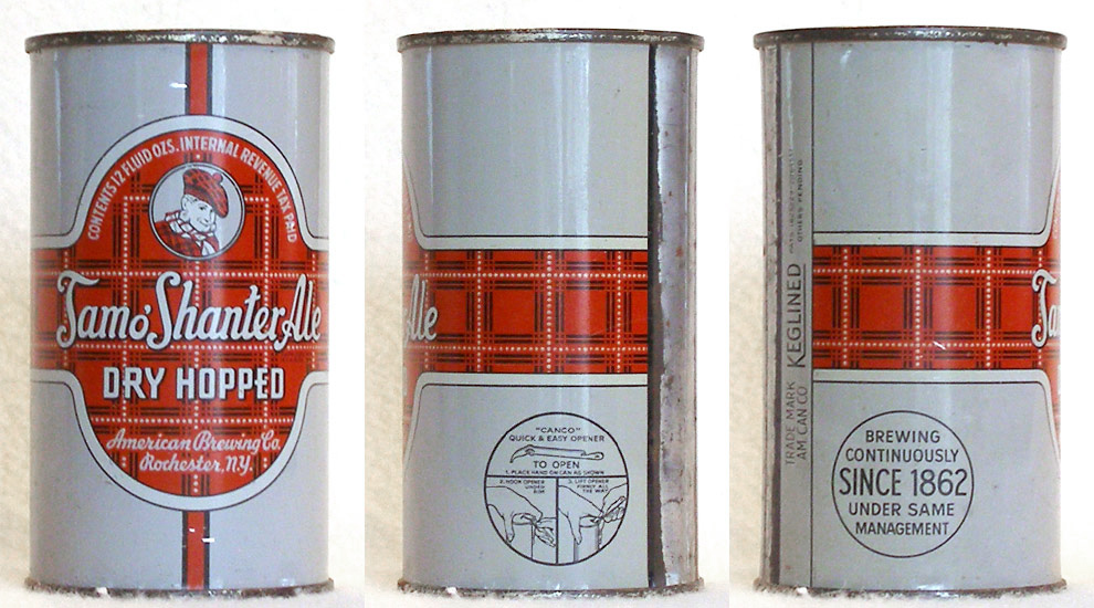 Tam O Shanter Ale Flat Top Beer Can