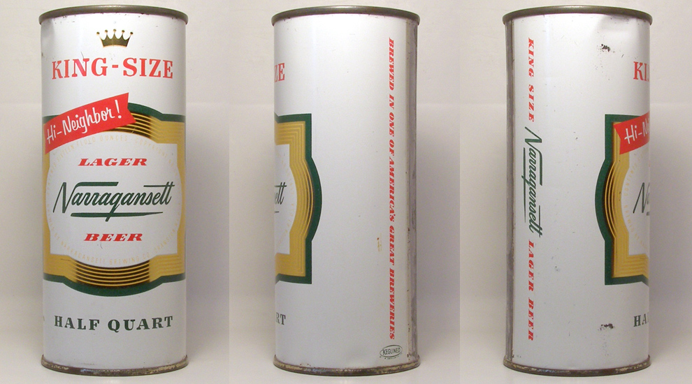 Narragansett Beer Flat Top Beer Can