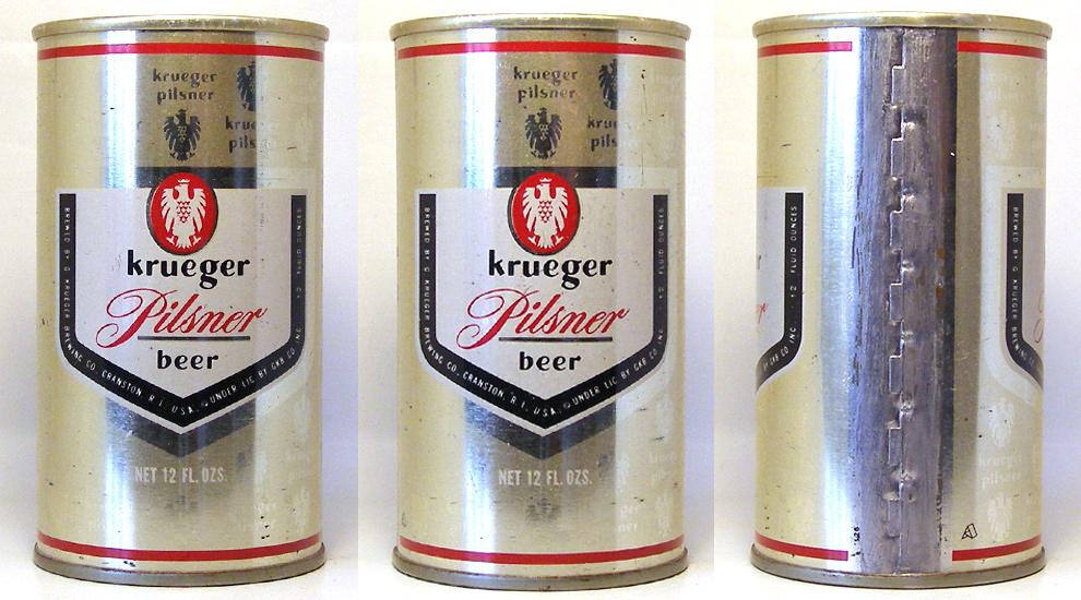 Krueger Beer Tab Top Beer Can