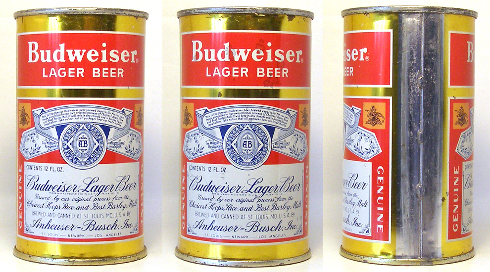Budweiser Beer Flat Top Beer Can 1660