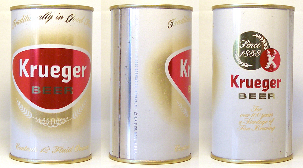 Krueger Beer Flat Top Beer Can
