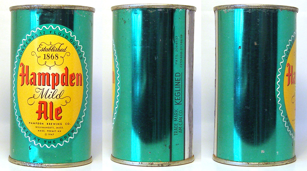 Hampden Ale Flat Top Beer Can 1664