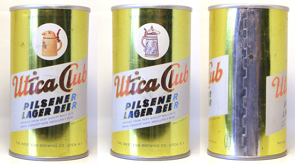 Utica Club Beer Zip Top Beer Can 1666