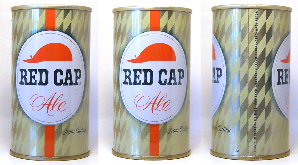 Red Cap Ale Tab Top Beer Can 1667