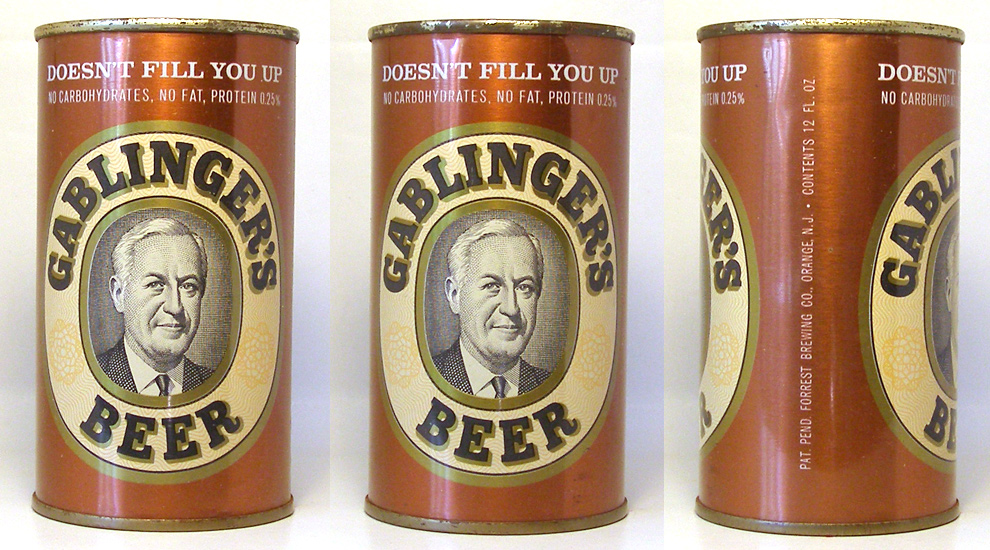 Gablingers Beer Tab Top Beer Can 1669