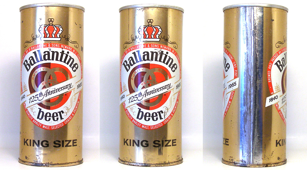 Ballantine Beer Zip Top Beer Can