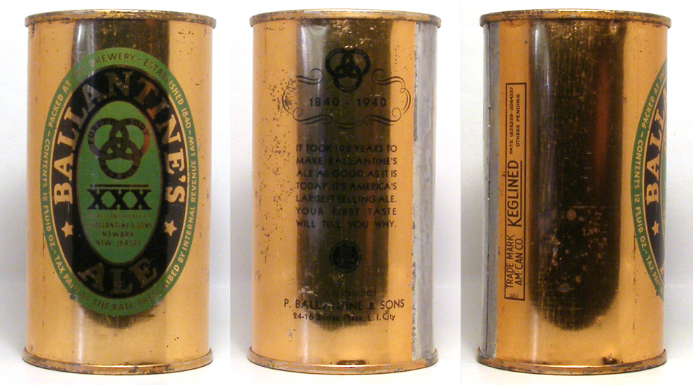 Ballantine Ale Flat Top Beer Can