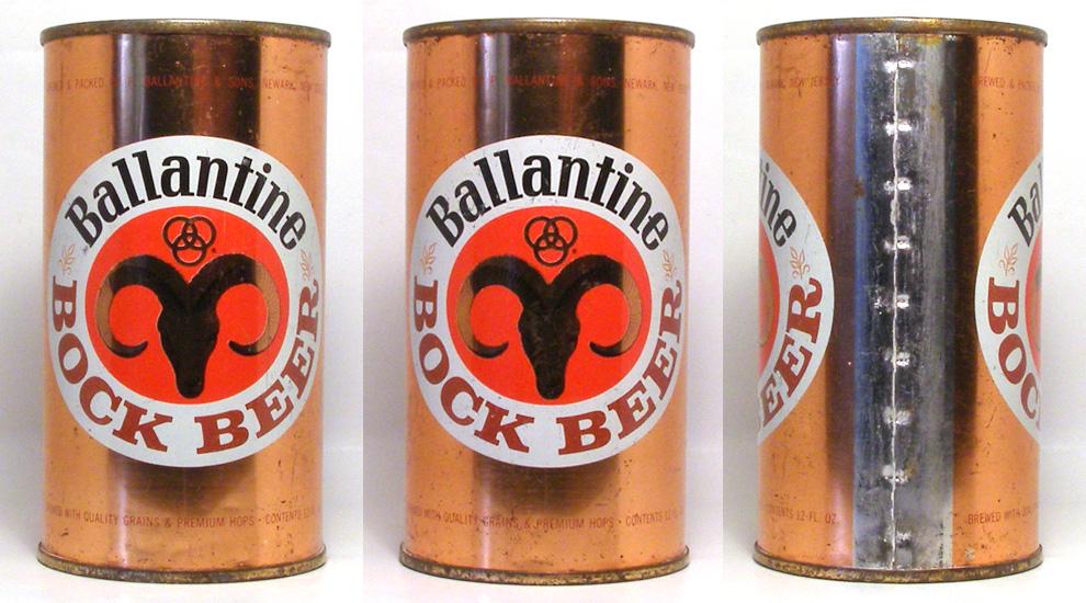 Ballantine Bock Flat Top Beer Can