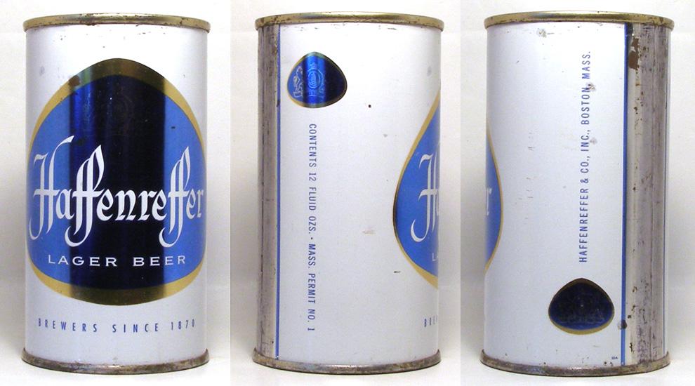 Haffenreffer Beer Flat Top Beer Can