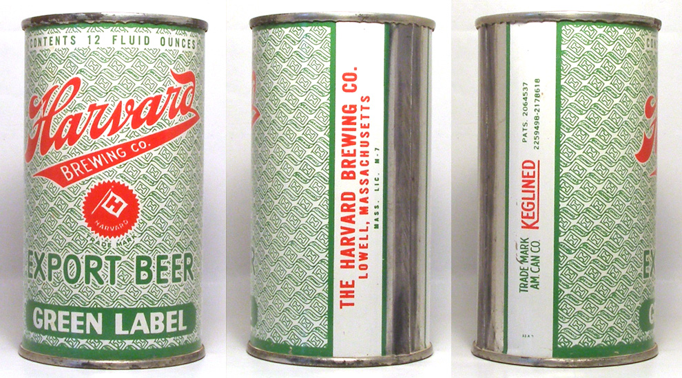Harvard Beer Flat Top Beer Can 1703