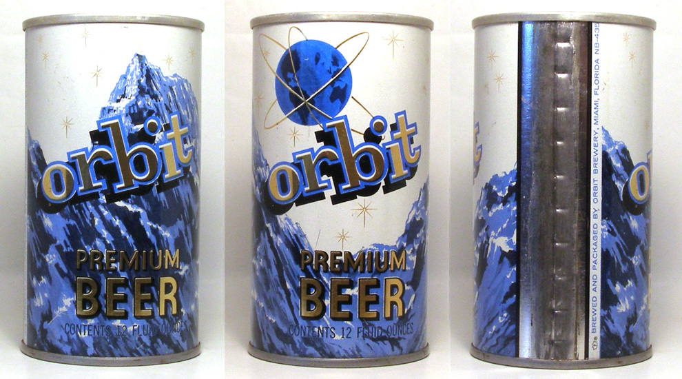 Orbit Beer Tab Top Beer Can 1705
