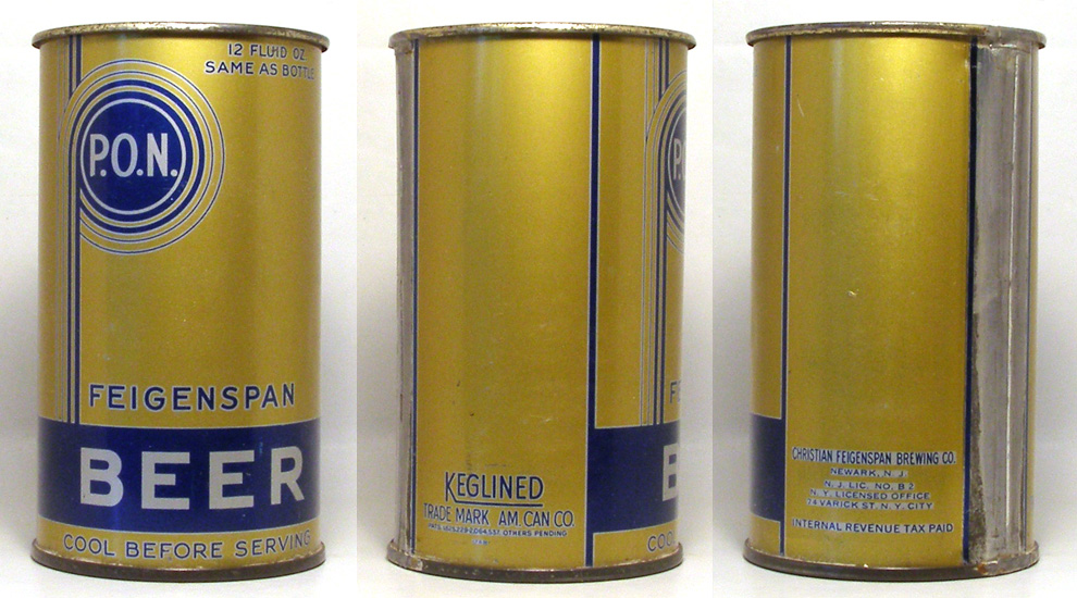 Feigenspan Beer Flat Top Beer Can 1706