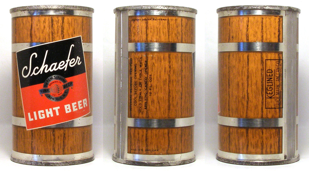 Schaefer Beer Flat Top Beer Can 1710