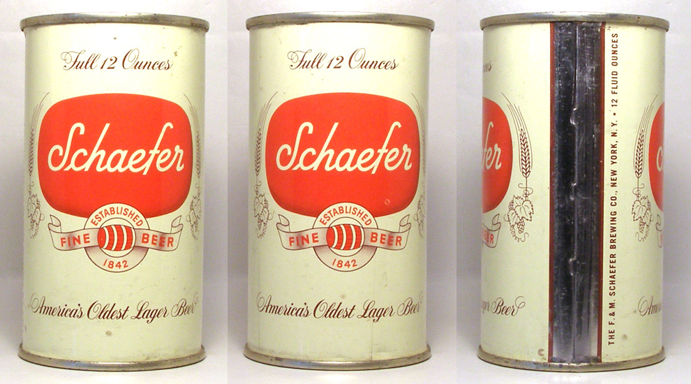 Schaefer Beer Flat Top Beer Can