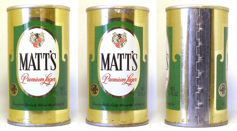 Matts Beer Tab Top Beer Can