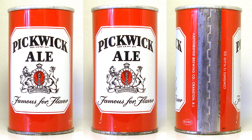 Pickwick Ale Tab Top Beer Can