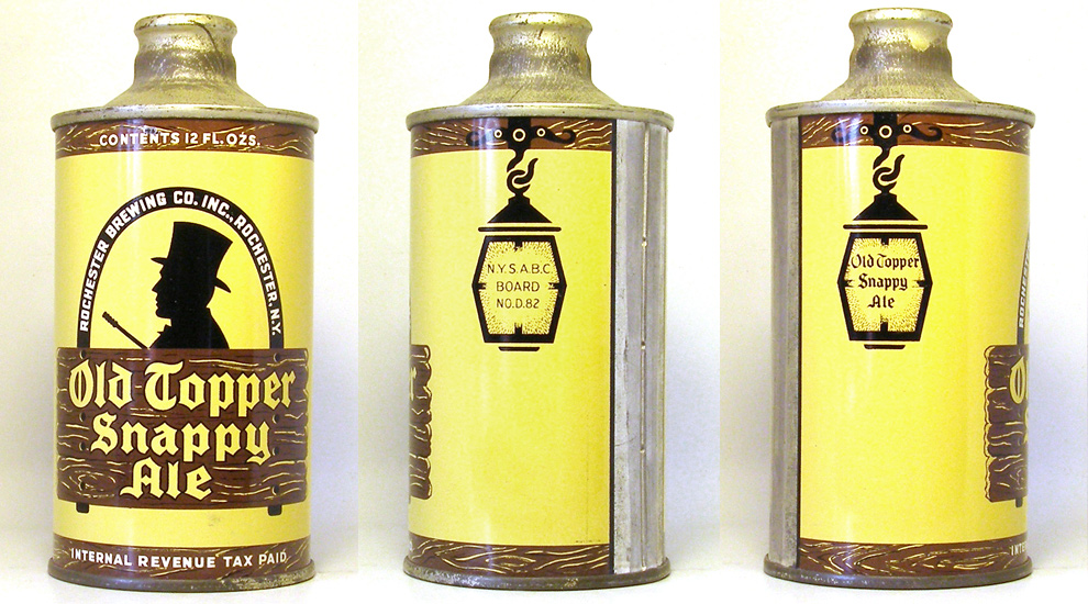 Old Topper Snappy Ale J-Spout Cone Top Beer Can