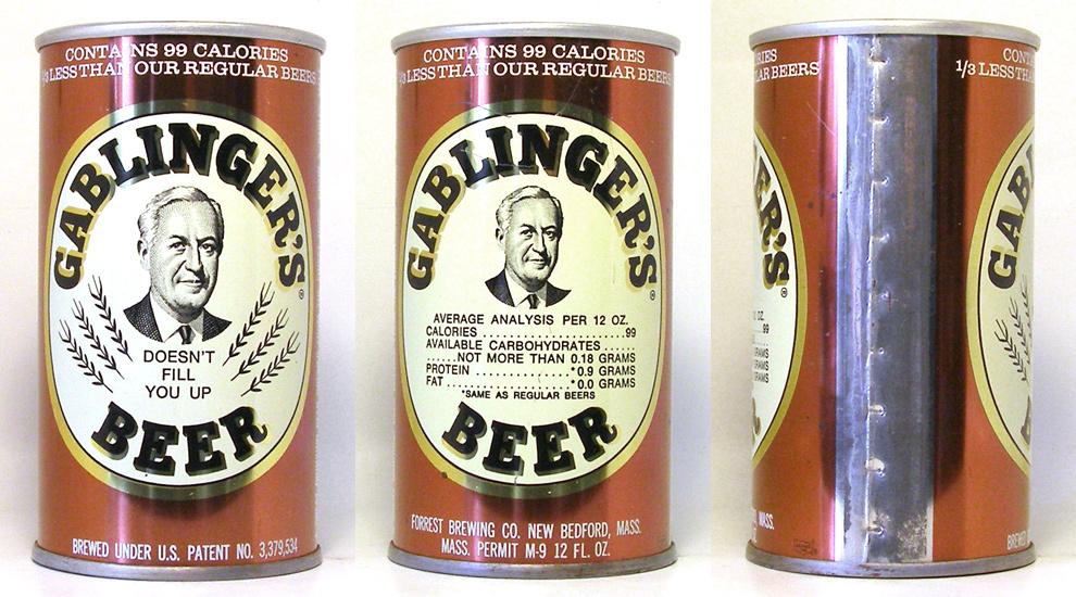 Gablingers Beer Tab Top Beer Can