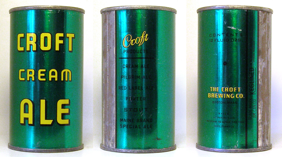 Croft Cream Ale Flat Top Beer Can