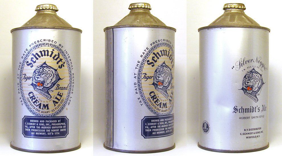 Schmidts Ale Quart Cone Top Beer Can
