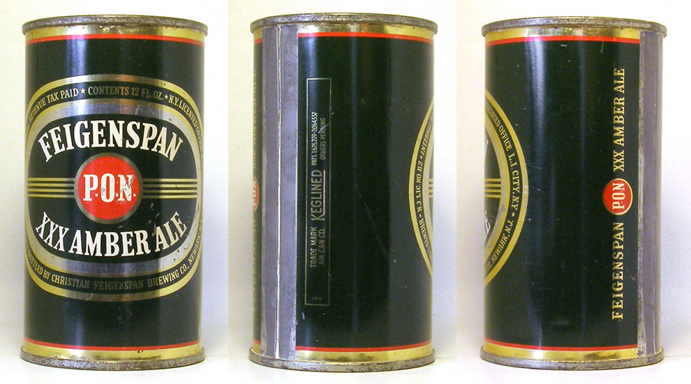 Feigenspan Ale Flat Top Beer Can