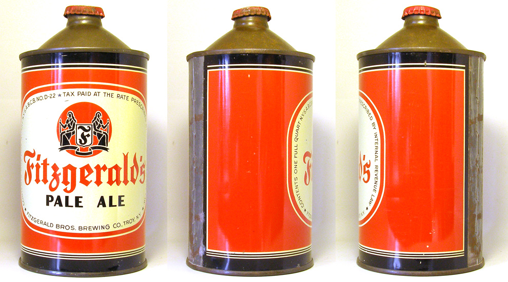 Fitzgerald Pale Ale Quart Cone Top Beer Can 1748