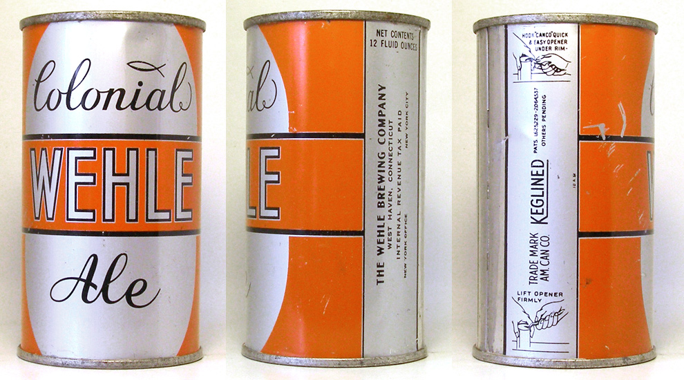 Wehle Colonial Ale Flat Top Beer Can 1752