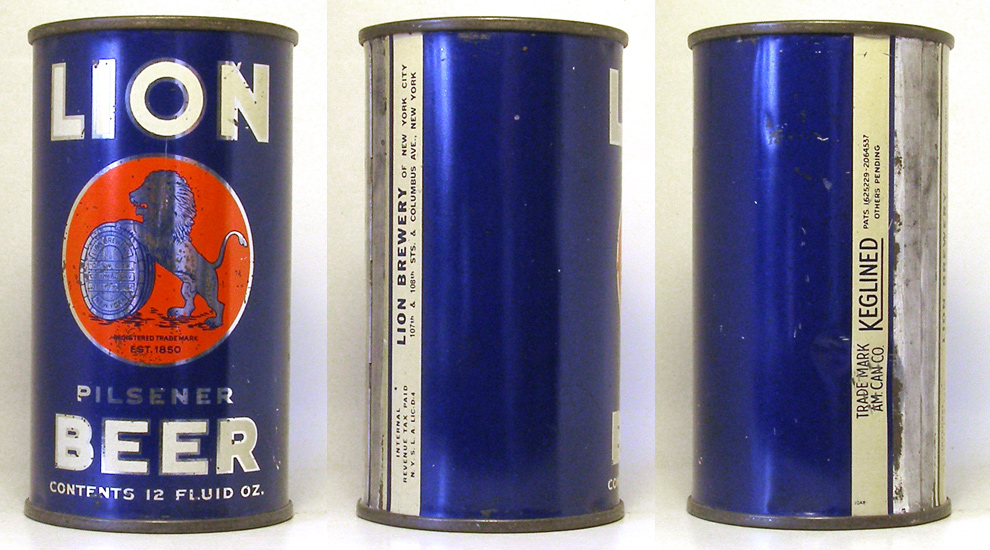 Lion Beer Flat Top Beer Can 1754