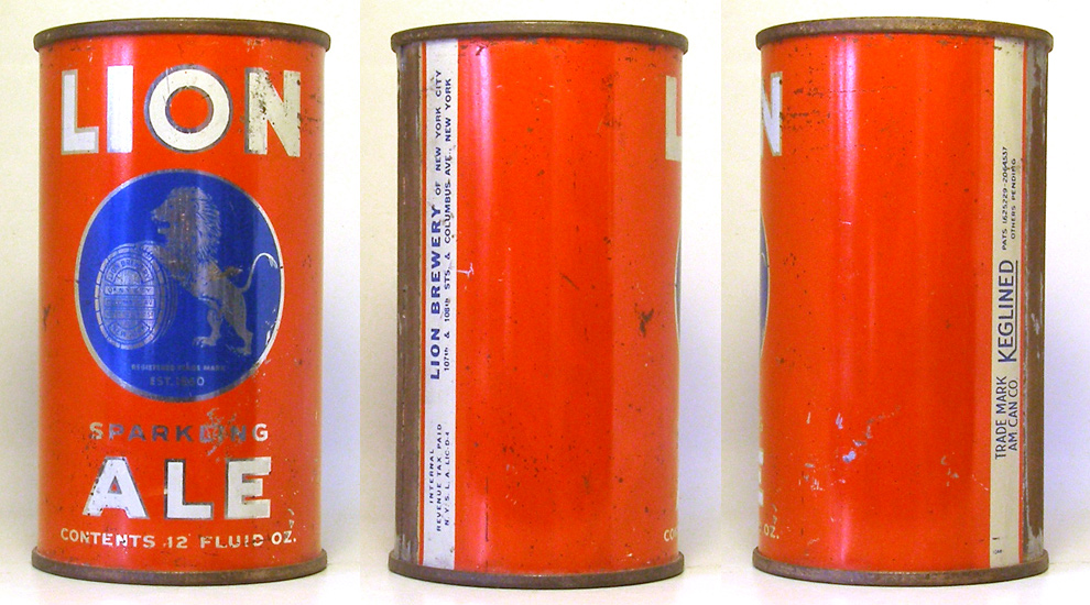 Lion Ale Flat Top Beer Can 1755