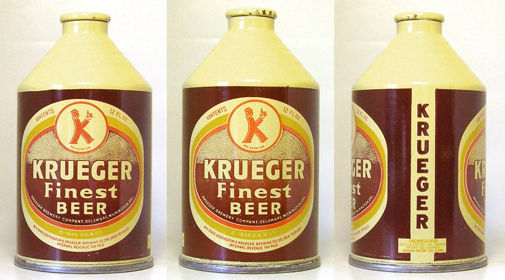 Krueger Beer Crowntainer Cone Top Beer Can 1756