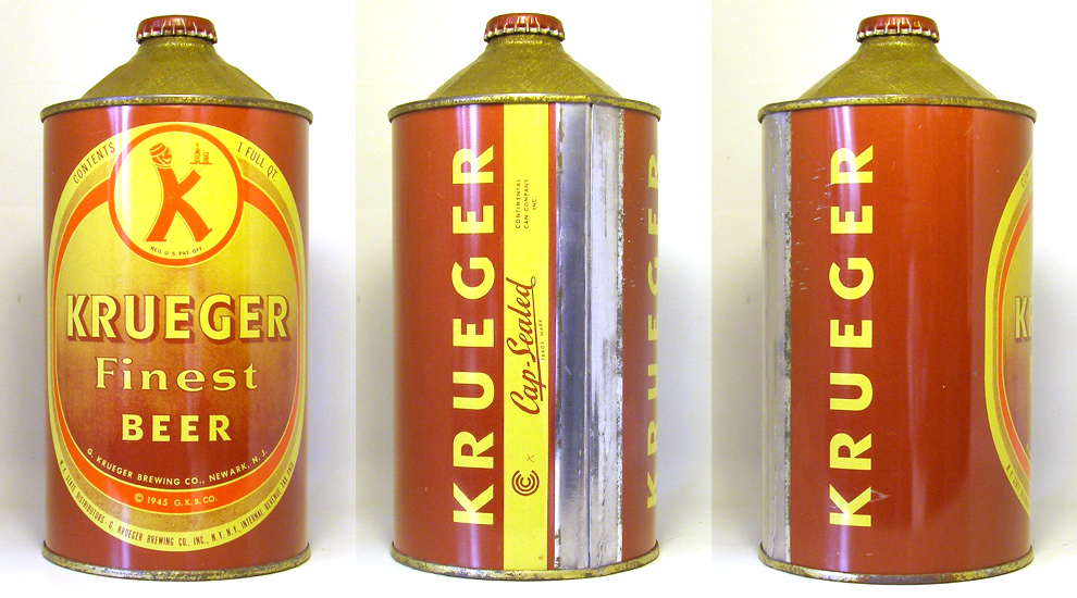 Krueger Beer Quart Cone Top Beer Can 1757