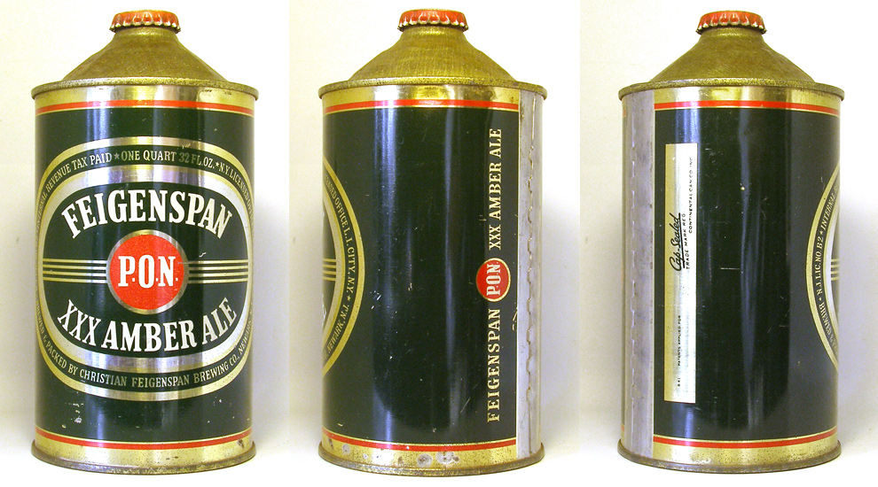 Feigenspan Ale Quart Cone Top Beer Can 1758