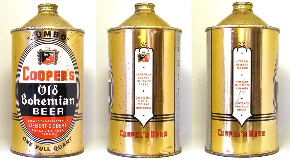 Coopers Beer Quart Cone Top Beer Can 1760