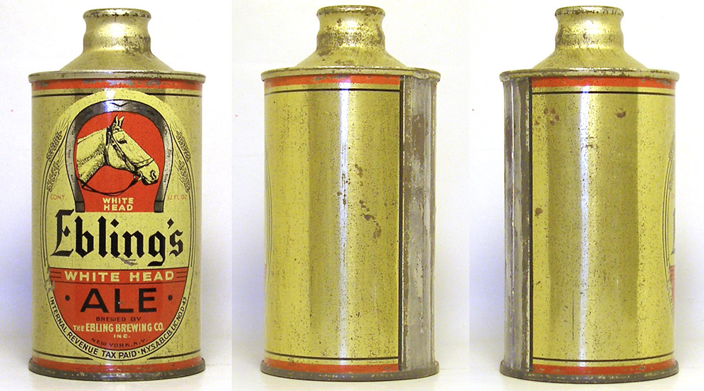 Eblings Ale J Spout Cone Top Beer Can 1763