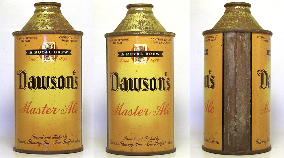 Dawson Ale High Profile Cone Top Beer Can